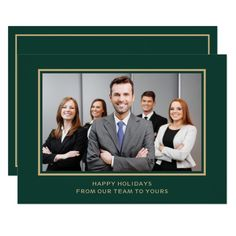 Shop Navy Gold Corporate Business Photo holiday created by XmasMall. Personalize it with photos & text or purchase as is! Holiday Greeting Cards, Holiday Photo Cards, Christmas Cards, Christmas Eve, Xmas Holidays, Studio Poses, Card Invitation, Navy Gold, White Gold