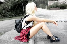 Cut Out Boots, Old Backpack, Shirt