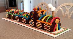 Chocolate Birthday Cake Child Kids With Train Design, birthday cake pictures ~ Dipacake