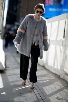 Pin for Later: Retour Sur les Meilleurs Looks Street Style de la Fashion Week de New York Jour 1 Cindi Leive