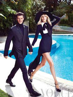 Anja Rubik & Sasha Knezevic for Vogue Mexico May 2013
