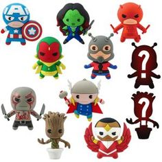 Marvel Figural Keyring Series 2 | Marvel ShopMarvel Figural Keyring Series 2 - Enlist the help of a Marvel super hero to take you into trendsetting territory! Each blind pack contains one of nine known characters, or it could be one of the two Mystery Figures, but you won't know which one. Enjoy the stylish surprise!