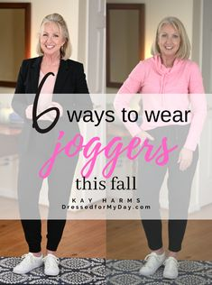 6 Ways to Wear Joggers this Fall, Blazers, pullover seaters, sneakers,