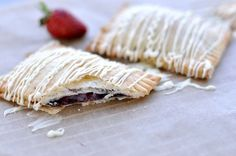 Homemade Nutella Strawberry White Chocolate Pop Tarts (Savoring the Thyme blog)