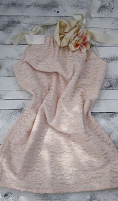 Vintage Peach and ivory lace dress great for by cookiesandcostumes, $65.00