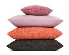 Cushions with fabrics by Raf Simons for Kvadrat