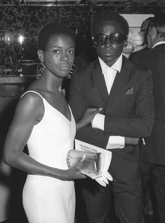 """Actress Cicely Tyson and musician Miles Davis attend the premiere of """"The Heart Is A Lonely Hunter"""" on July 1968 in New York City. Get premium, high resolution news photos at Getty Images Miles Davis, Afro, Vintage Black Glamour, Billie Holiday, Beyonce And Jay Z, Looking Back, Documentaries, Marriage, Vogue"""