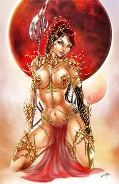 Dejah Thoris and the Warlords of Mars by jamietyndall.deviantart.com on @deviantART