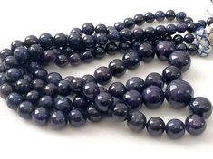 Blue Sapphire Plain Round Balls Sapphire Beads by gemsforjewels