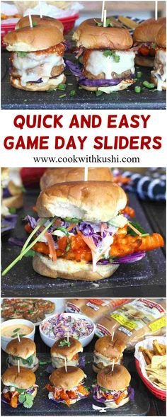 Quick & easy game day sliders