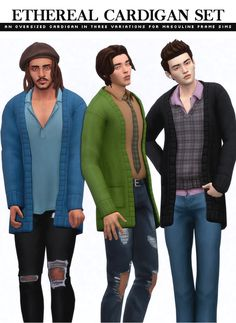 The Sims, Sims 4 Cas, Sims 4 Men Clothing, Male Sweaters, Sims Stories, Sims 4 Mm Cc, Min Yoonji, Sims 4 Cc Finds, Sims Mods