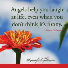 When you are connected to your Angels, and understand that all things are happening for your highest good ... you can laugh at the things that don't seem funny. Your Angels know what they are doing!   ~ Karen Borga, The Angel Lady