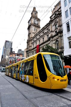 """Trams Are Terrific In Melbourne"" - It is easily accessible to all event venues by public transport around melbourne Melbourne Tram, Melbourne Skyline, Melbourne Suburbs, Melbourne Australia, Australia Travel, Melbourne Victoria, Victoria Australia, Rail Transport, Public Transport"