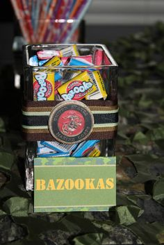 "Gotta remember Bazooka bubble gum for the goodie bags.  Photo 13 of 27: Military / Birthday ""Army Party"" 