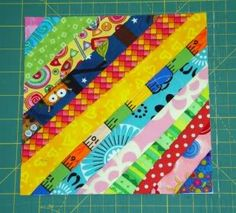 Jane's Fabrics and Quilts: String Block - tutorial