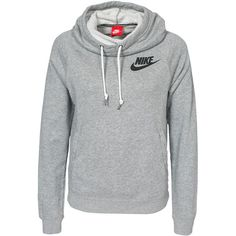 Nike Rally Funnel Neck Hoody (77 CAD) ❤ liked on Polyvore featuring tops, hoodies, nike, outerwear, sweaters, jumpers & cardigans, womens-fashion, hooded sweatshirt, drawstring hooded pullover e cotton hooded sweatshirt