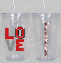 Ohio State Buckeyes Sports Love Tumbler