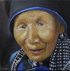 geleefd, olieverf op doek,geschilderd door John Dunk