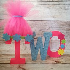 Trolls Inspired Birthday Free Standing Letters//Poppy// Pink and Blue Birthday//2nd Birthday letters//1st Birthday letters//Photo Prop by 2troubleboys on Etsy