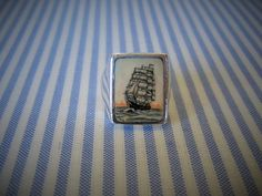 STERLING Silver SHIP Ring Size 8 1/2 Artist-signed Size 8 1/2 on Etsy $86.99 by pegi16