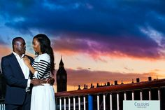 A pre wedding photo-shoot in London at sunset www.coloursphotofilm.co.uk