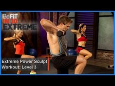 Extreme Power Sculpt Workout | Level 3- BeFit in 30 Extreme - YouTube