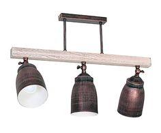 Lámpara de techo de metal y madera Gypsy - wengué