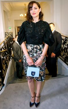 Marion Cotillard in Dior R17 (Look 50) at Dior HC F/W16-17 show during Paris FW