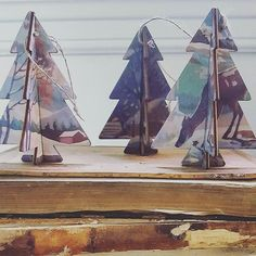 My favorite, paint by numbers tree ornaments. Assorted stars also available next weekend @clevelandflea . . . #cosmicgirlgoeshome #vintagehomedecor #paintbynumbers #holidays #midcenturymodern #boho #salvage #farmhouse #clevelandflea #shoptheflea #cle