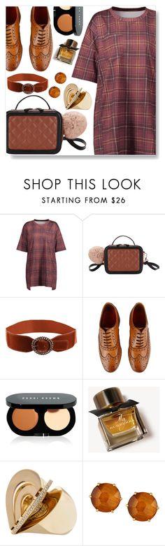 """Plaid dress"" by simona-altobelli ❤ liked on Polyvore featuring Grenson, Bobbi Brown Cosmetics, Burberry and Ippolita"