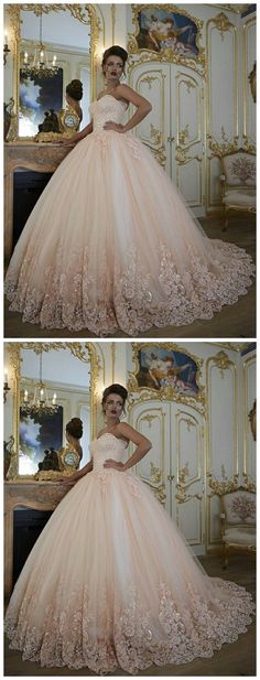 Pink Prom Ball Gown, Prom Dresses , Lace Applique Prom Dress, Puffy Pr – Dresses Near Me Puffy Prom Dresses, Elegant Bridesmaid Dresses, Quince Dresses, Affordable Wedding Dresses, Ball Gowns Prom, Luxury Wedding Dress, Ball Dresses, Wedding Gowns, Modest Wedding