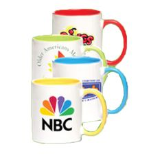 "Photo Mug...White personalized photo mugs. Product dimensions: 4 1/2"" height; 3 1/4"" rim and 4 7/8"" base. Great for home use and offices to put your favorite tea or coffee! Perfect promotional item, gift and give away"