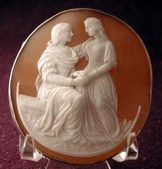 cameo earrings | Magnificent Courting Couple Cameo