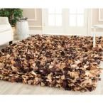 Rio Shag Brown/Multi 8 ft. x 10 ft. Area Rug