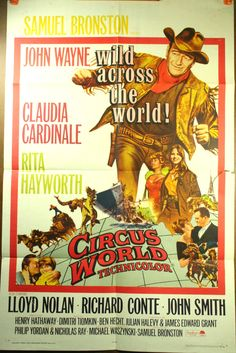 CIRCUS WORLD, 1964 Original John Wayne Poster