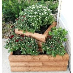Flower, Herb, Strawberry Tower Planter Box - Assembles in Minutes - 1 ...