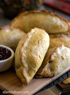 New England Pasty - A Family Feast - A delicious and different way to enjoy Thanksgiving leftovers.  Turkey, gravy, mashed potatoes and more in a tender, flaky golden crusted hand pie.