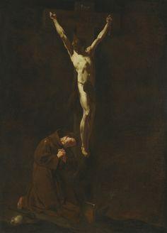 "coriesu: "" Christ on the Cross with Saint Francis Giambattista Piazzetta """