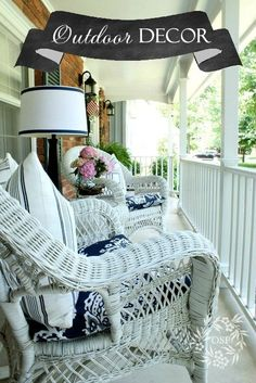 Summer porch decor from On Sutton Place