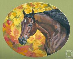 Андрианова Лариса. Краски осени #art #drawing #horse