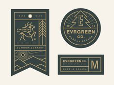 Evrgreen Co. Tag System designed by Steve Wolf. Connect with them on Dribbble; the global community for designers and creative professionals. 2 Logo, Badge Logo, Seal Logo, Badge Design, Label Design, Package Design, Tag System, Steve Wolf, Camp Logo