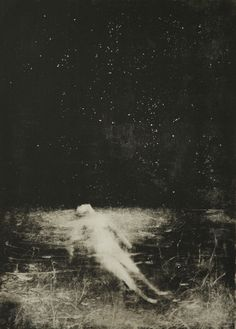 'Bain d'Etoiles' (2013) by French artist & printmaker Sophie LéCuyer. Monotype. via the artist's blog