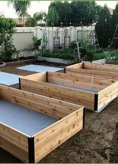 Garden Planters, Lawn And Garden, Vegetable Garden, Bed Design, House Design, Raised Bed Garden Design, Starting A Garden, Raised Beds, Amazing Gardens