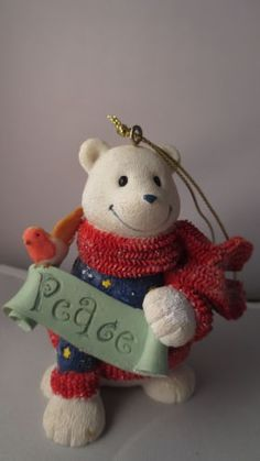 Papel-Polar-Bear-Peace-Christmas-Ornament