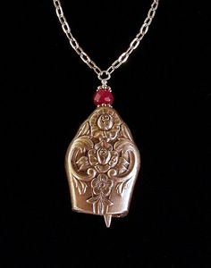 Antique butter knife bell pendant necklace by Laura Beth Love