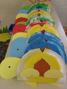 Mijn eigen bedachte en door mijn peuterklas gemaake schildpad-lampion. Kids Crafts, Summer Crafts, Diy And Crafts, Arts And Crafts, School Projects, Projects For Kids, Diy For Kids, Paper Plate Crafts, Paper Plates