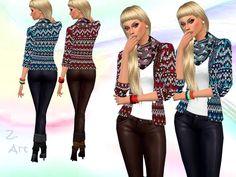 Cold Season cardigan by Zuckerschnute20 at TSR via Sims 4 Updates