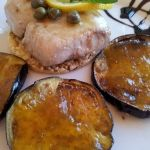 Recetas - Bonito del Norte con Alcaparras y crujiente de berenjena con mermelada