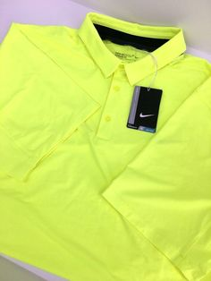 Nike Dri-Fit Mobility Embossed Men s Size 2XL Golf Polo Volt 802845-702  MSRP  80 4cbef54c20fb