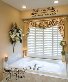 Bathroom Window Curtain Designs Finding High Quality Bathroom Window Curtains from Home : Bathroom Window Curtains Design There are such a lot of several types of bathroom curtains out there available in the market which m Window Curtain Designs, Small Window Curtains, Bathroom Window Curtains, Bathroom Window Treatments, Bathroom Windows, Curtain Ideas, Window Valances, Kitchen Curtains, Bathroom Stickers